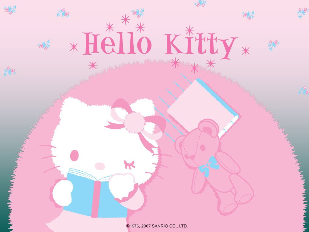 Hello Kitty Winter Wallpaper images 1024x768