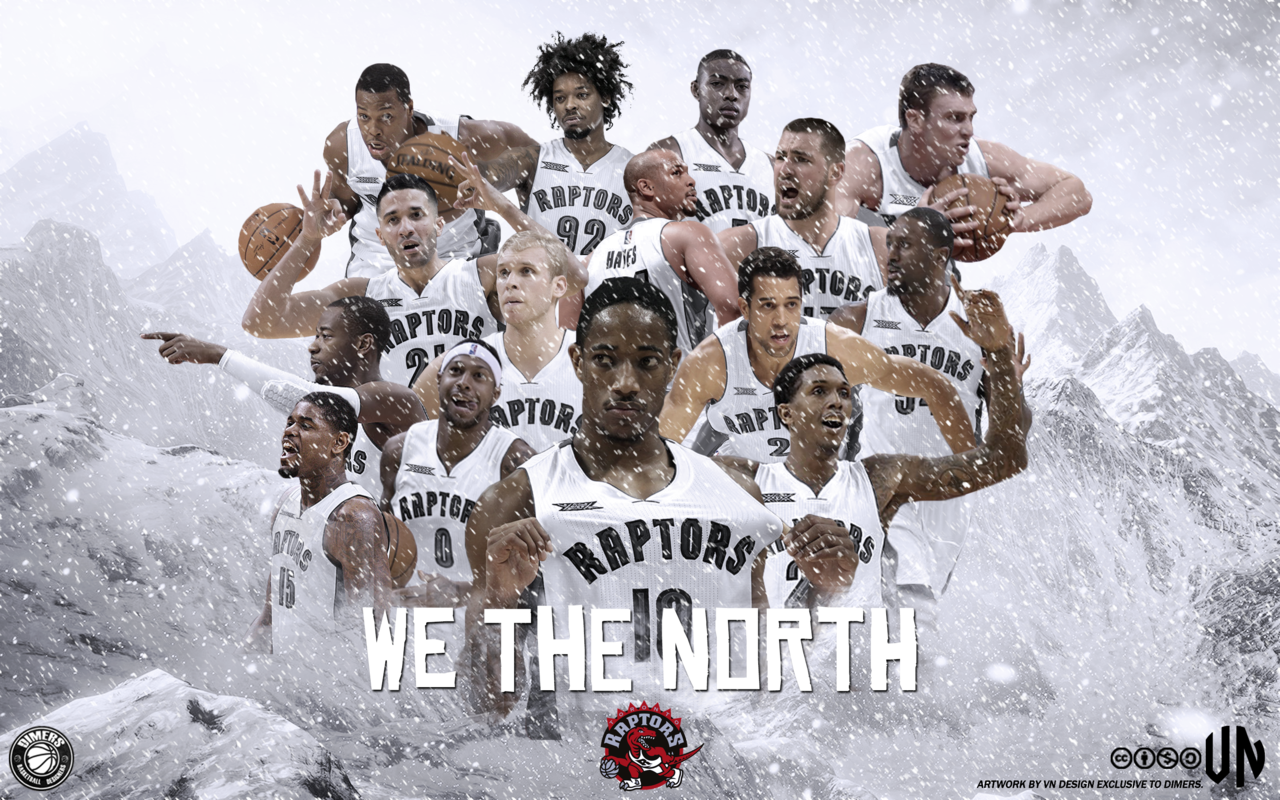 Toronto Raptors We The North by vndesign 1280x800