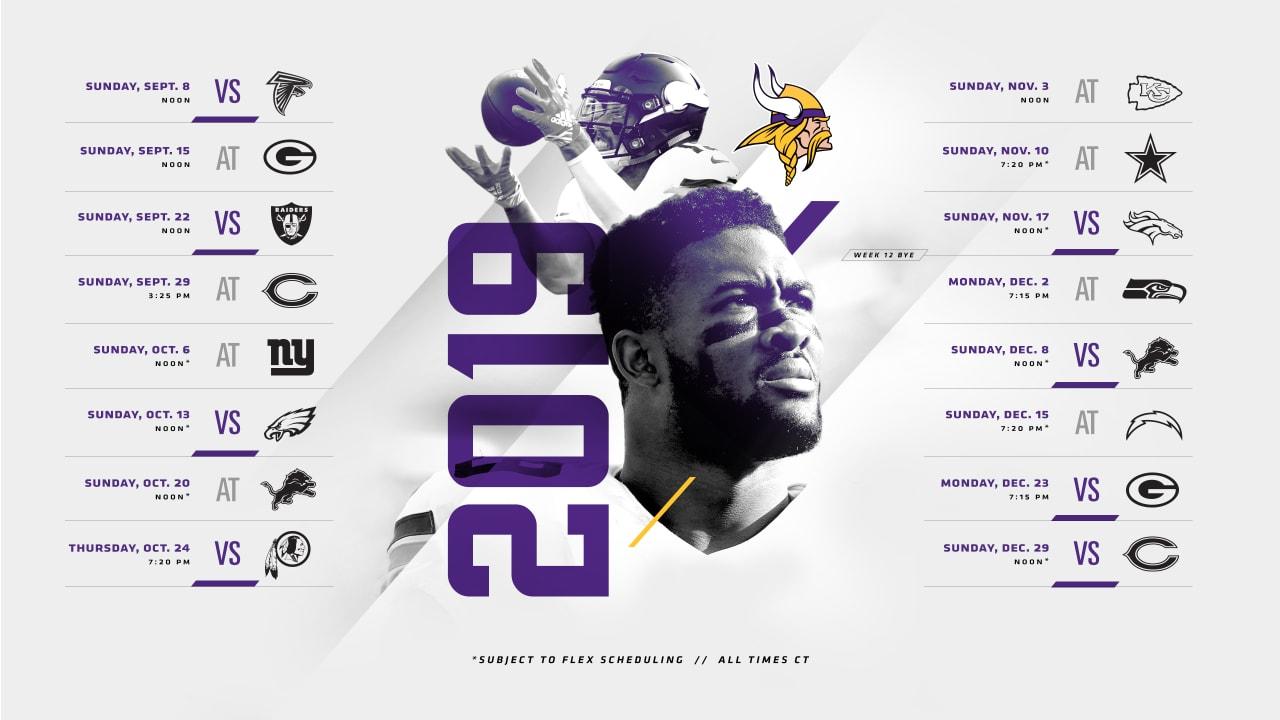 Minnesota Vikings 2019 Schedule Released 1280x720