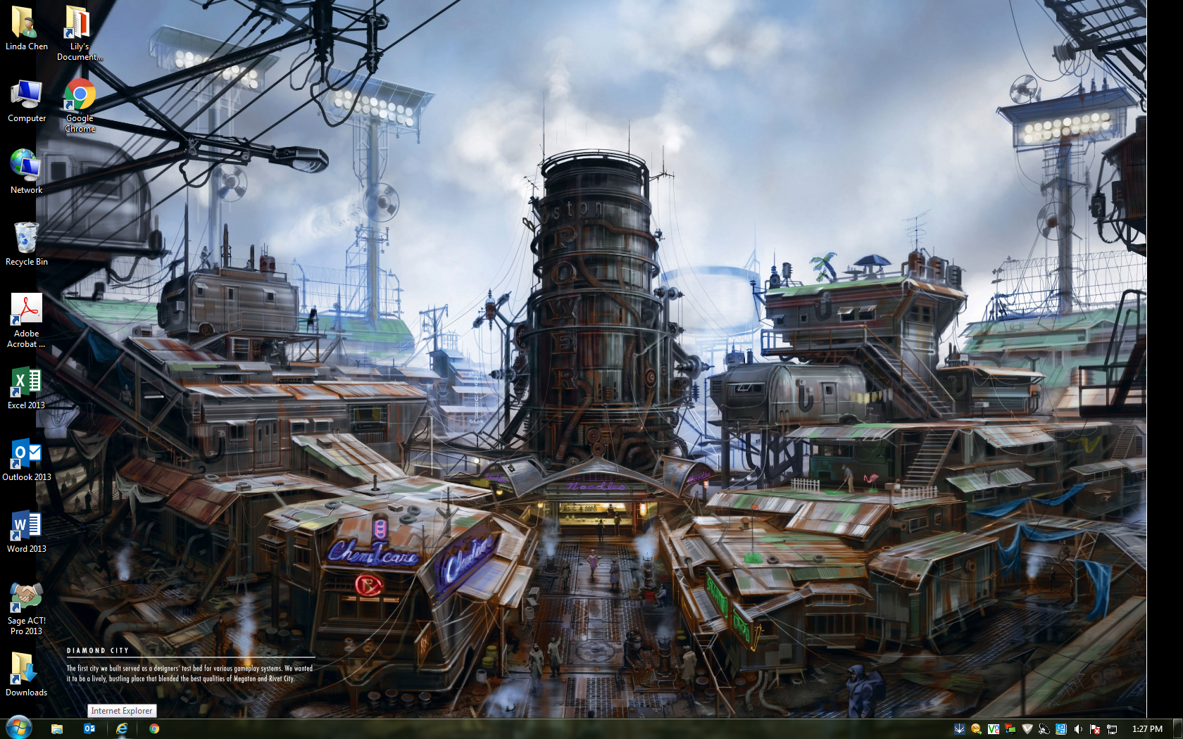 My Favorite Desktop Wallpaper Diamond City Concept Art Fallout4 1680x1050