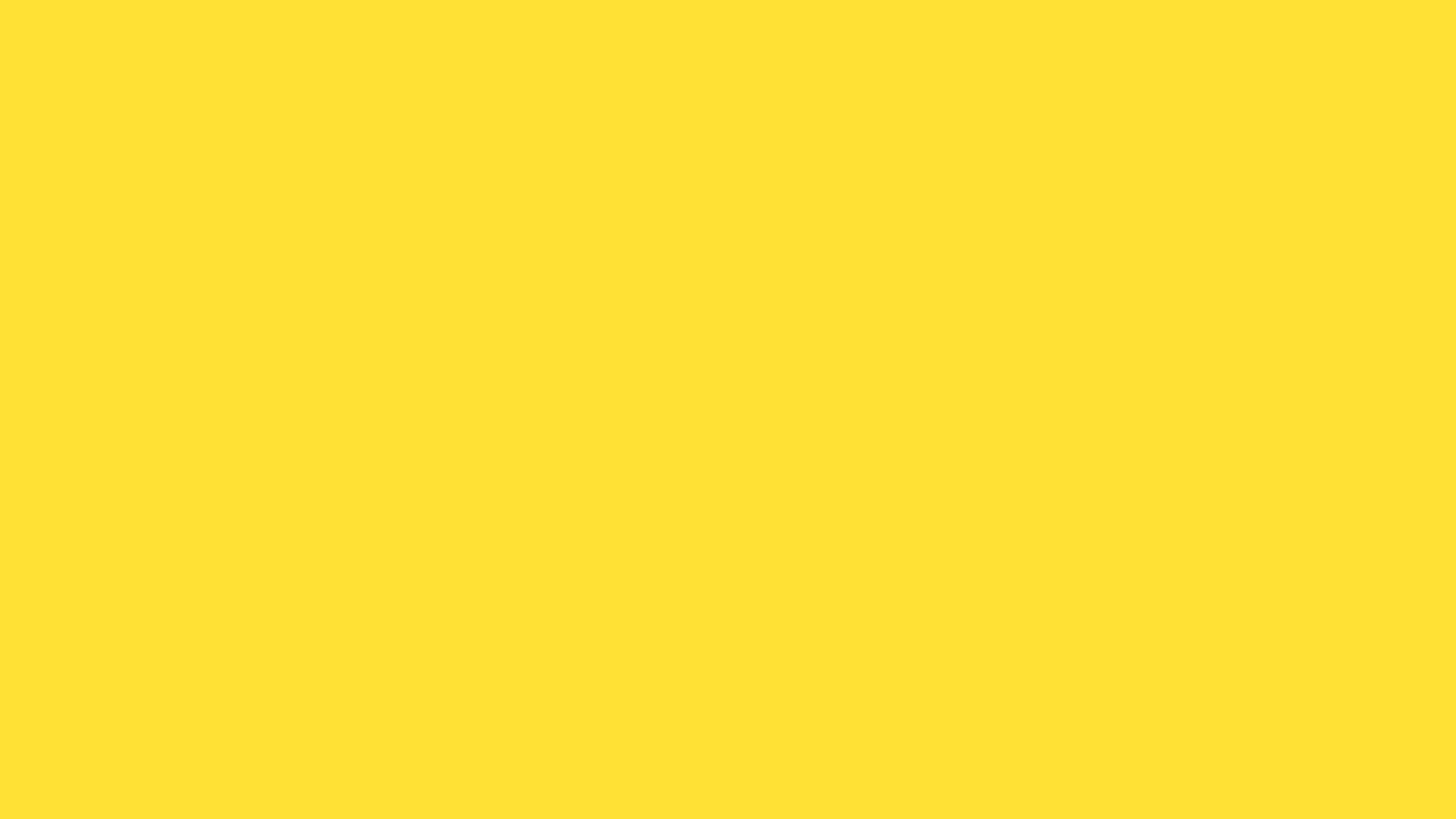 Banana Yellow Solid Colors 2560x1440