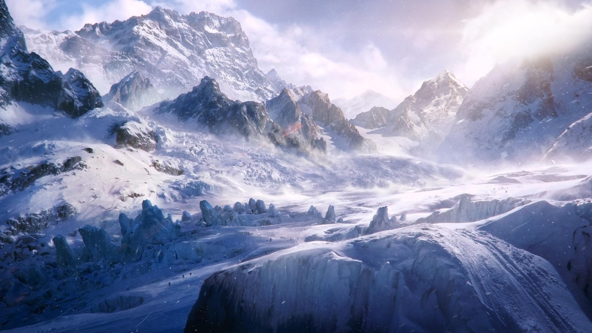 Snow Trekking HD Landscape Desktop Wallpaper WallpaperCowcom 1920x1080