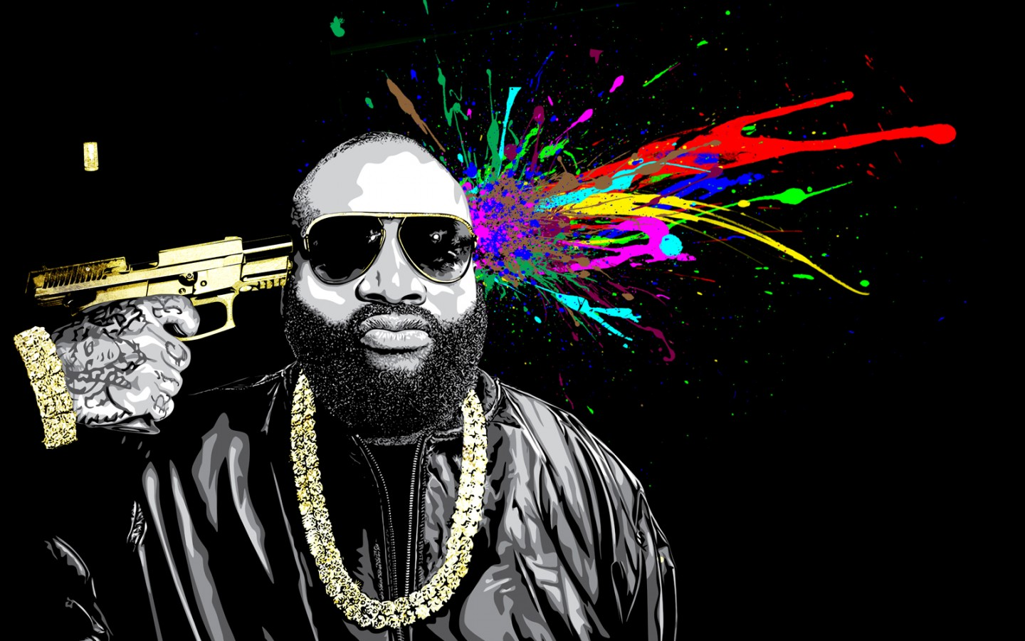 Rick Ross Mastermind Painting Rap Wallpapers 1440x900