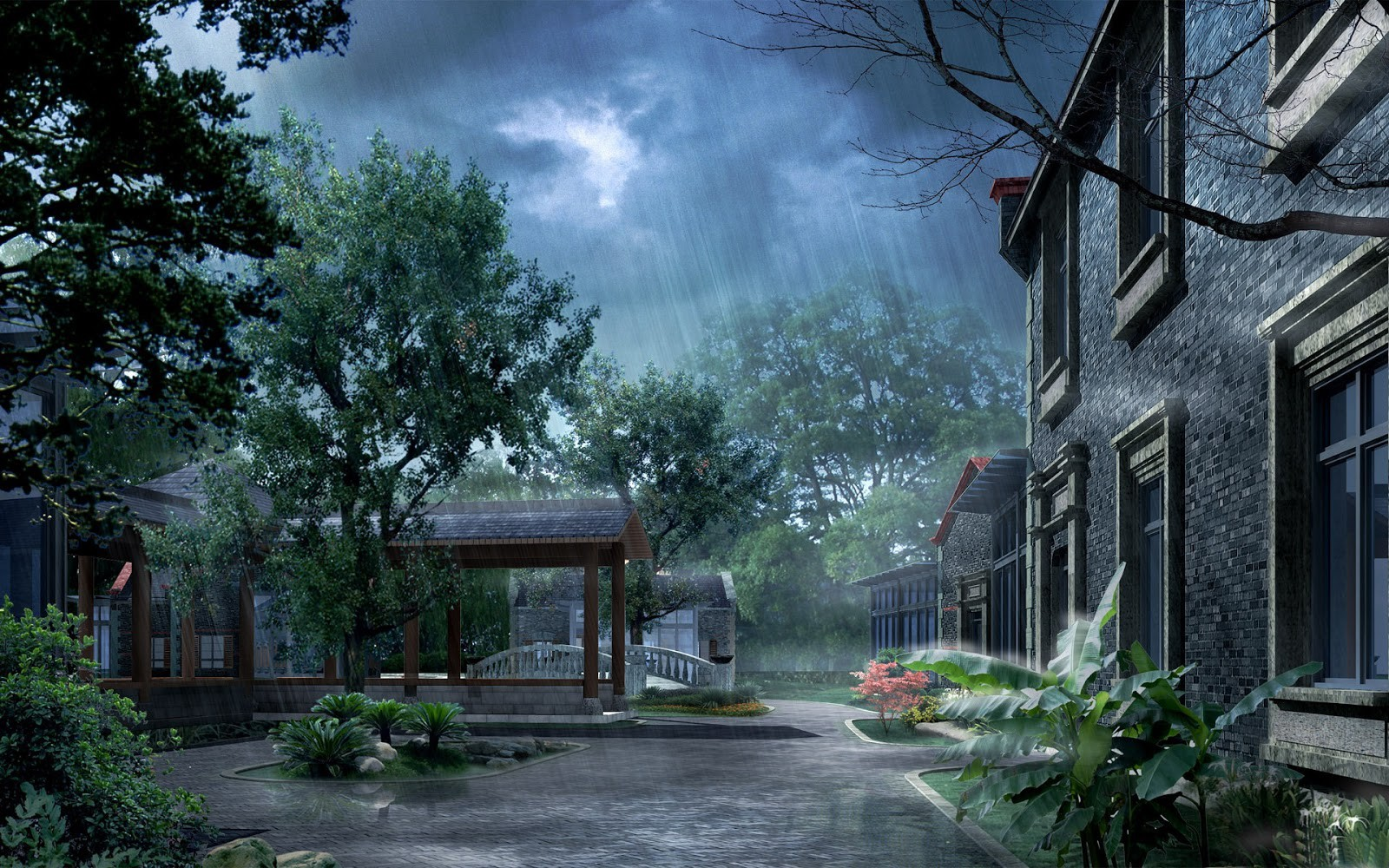 3D Animated rain flow hd Wallpapers Fine Wallpaperss 1600x1000