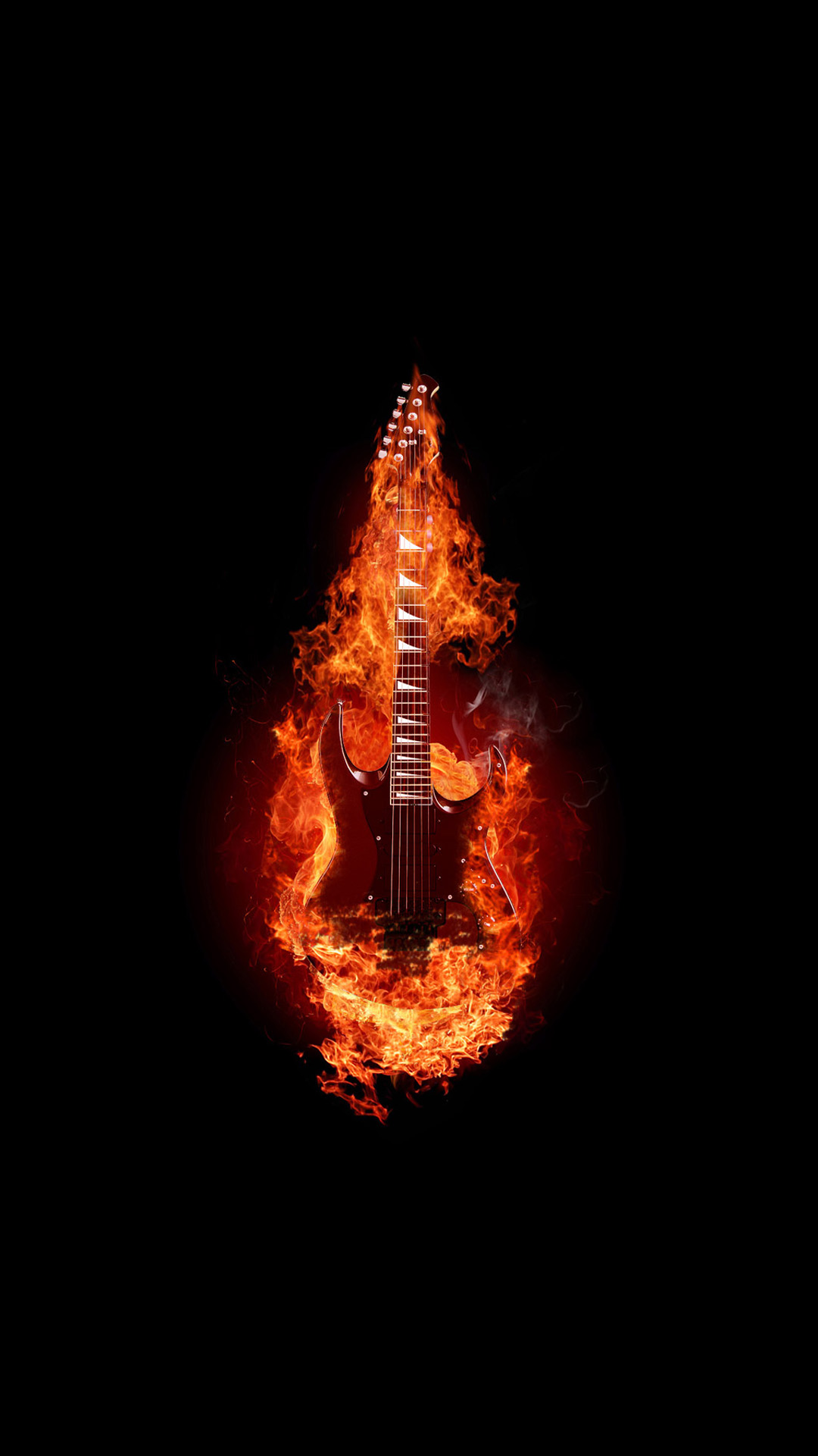 guitar on fire wallpapers - photo #16