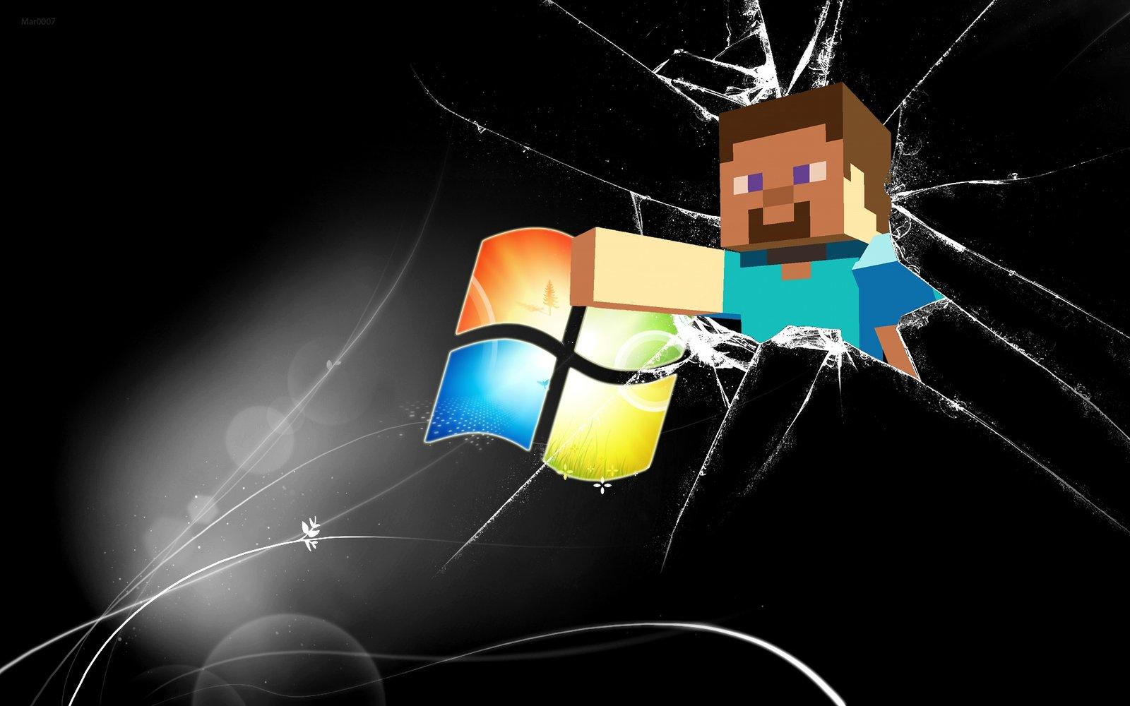 Minecraft Steve Windows Wallpaper by AlduinTheW0rld3ater 1600x1000