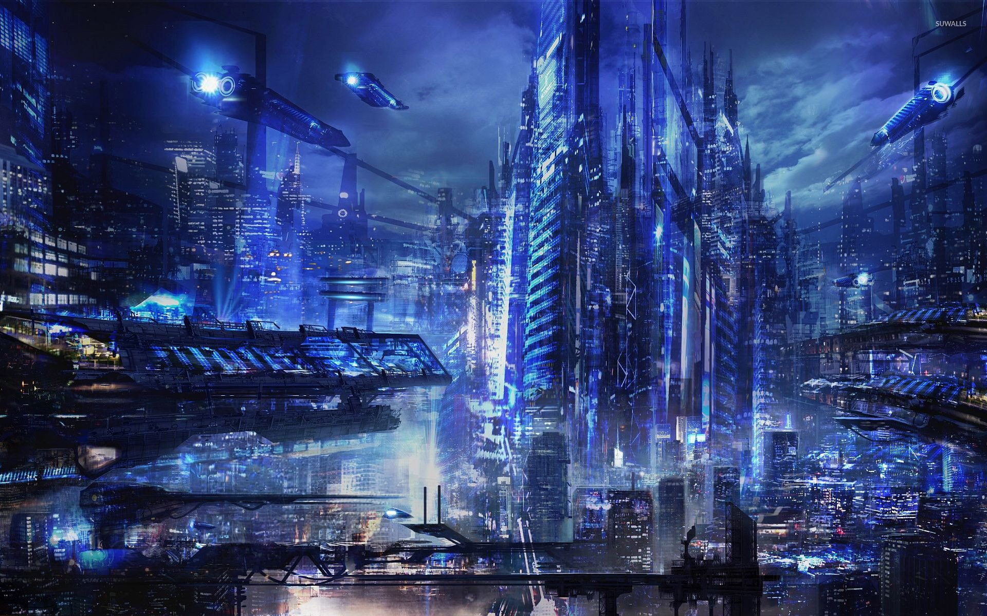 Cyberpunk city wallpaper   Fantasy wallpapers   30036 1920x1200