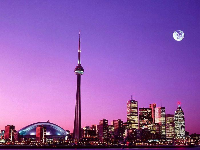 Beautiful City at Night   Desktop Wallpaper of Toronto Canada 33 700x525