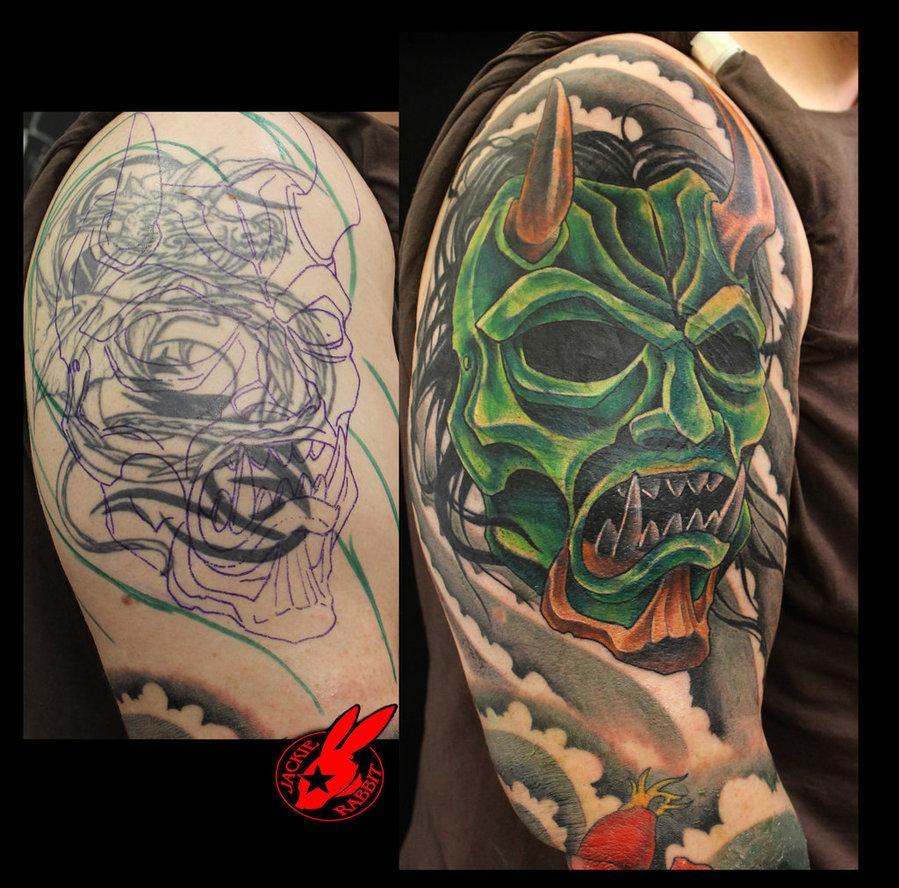 Japanese Tattoo Wallpapers: Oni Mask Wallpaper