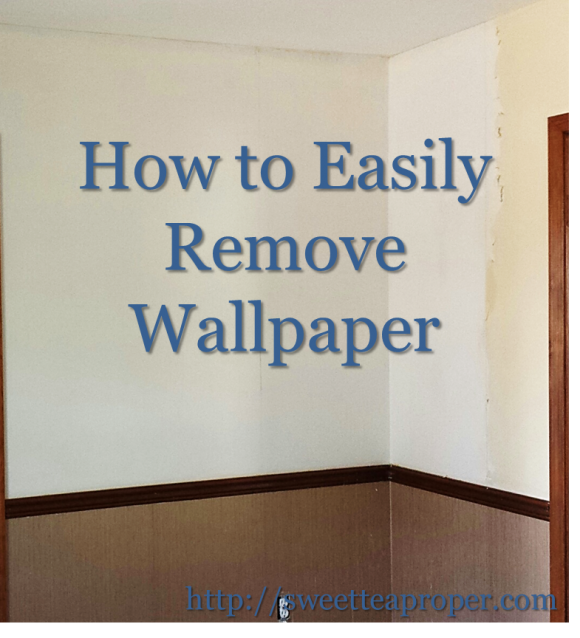 to Remove Wallpaper Easy Removing Wallpaper DIY Home Renovation 580x638