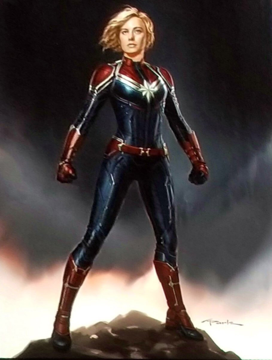 FIRST LOOK Heres Brie Larson in full Captain Marvel outfit from 909x1200