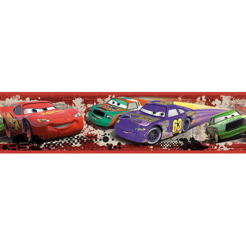 Cars Piston Cup Racing Peel and Stick Wallpaper Border RMK1516BCSjpg 500x500