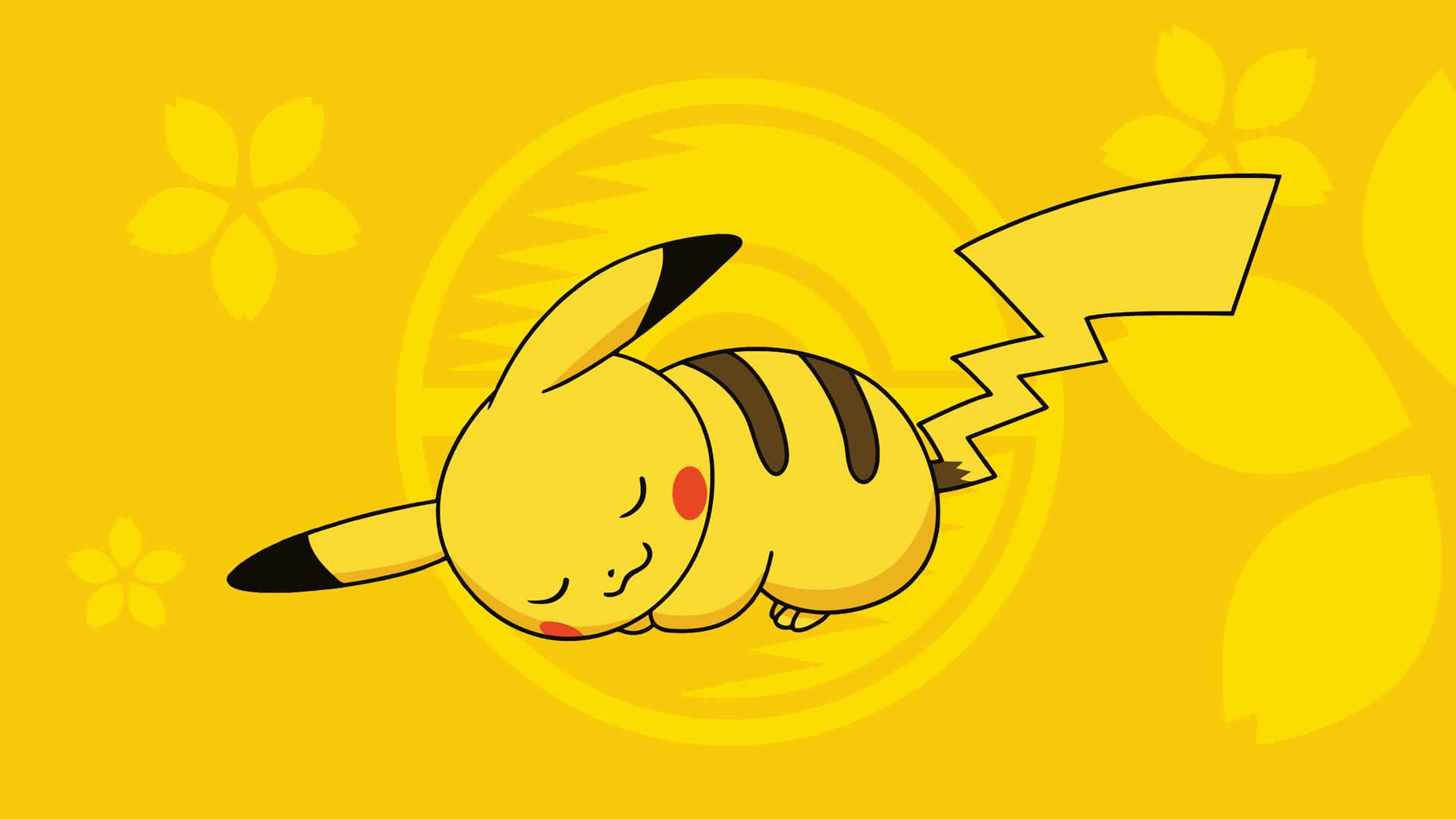 Wallpaper Onemuri Pikachu by Honokawa 1920x1080