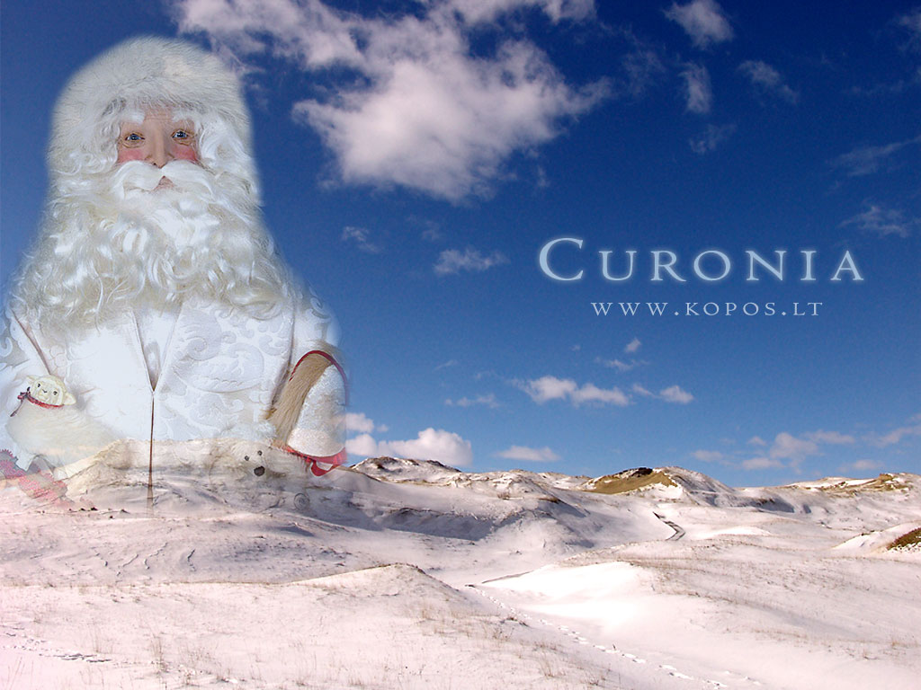 Santa Clause in the White dune wallpapers Santa Clause in the White 1024x768