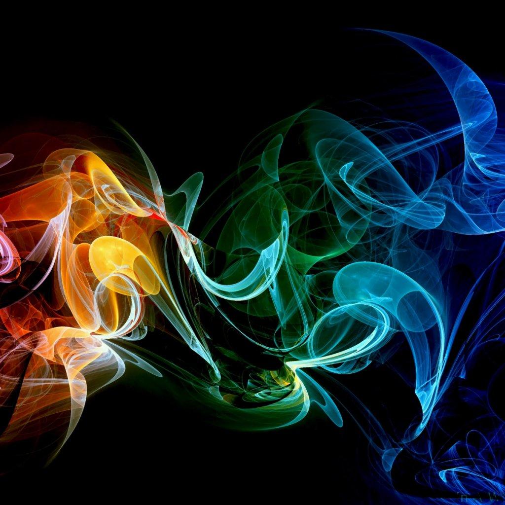 Colored Smoke Backgrou...