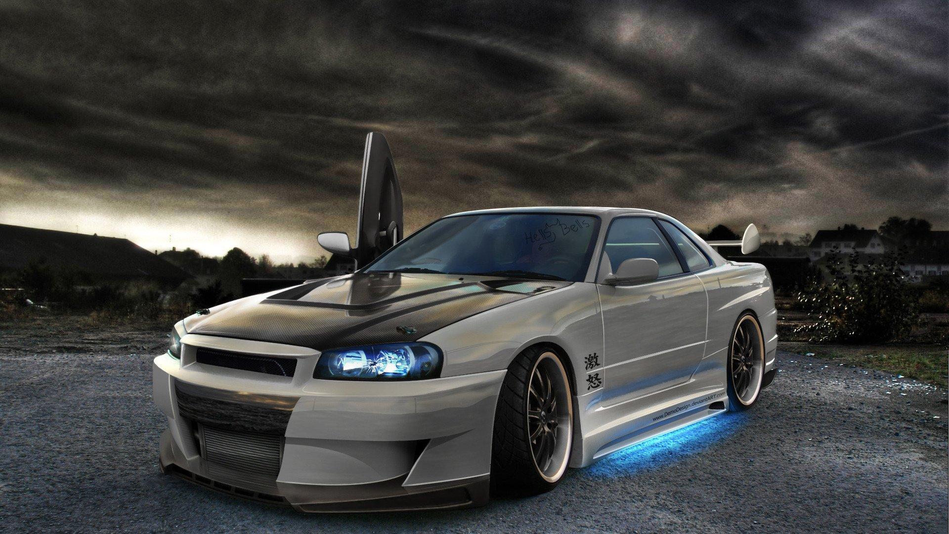 Nissan Skyline GTR R34 tuning wallpaper 1920x1080 438455 1920x1080