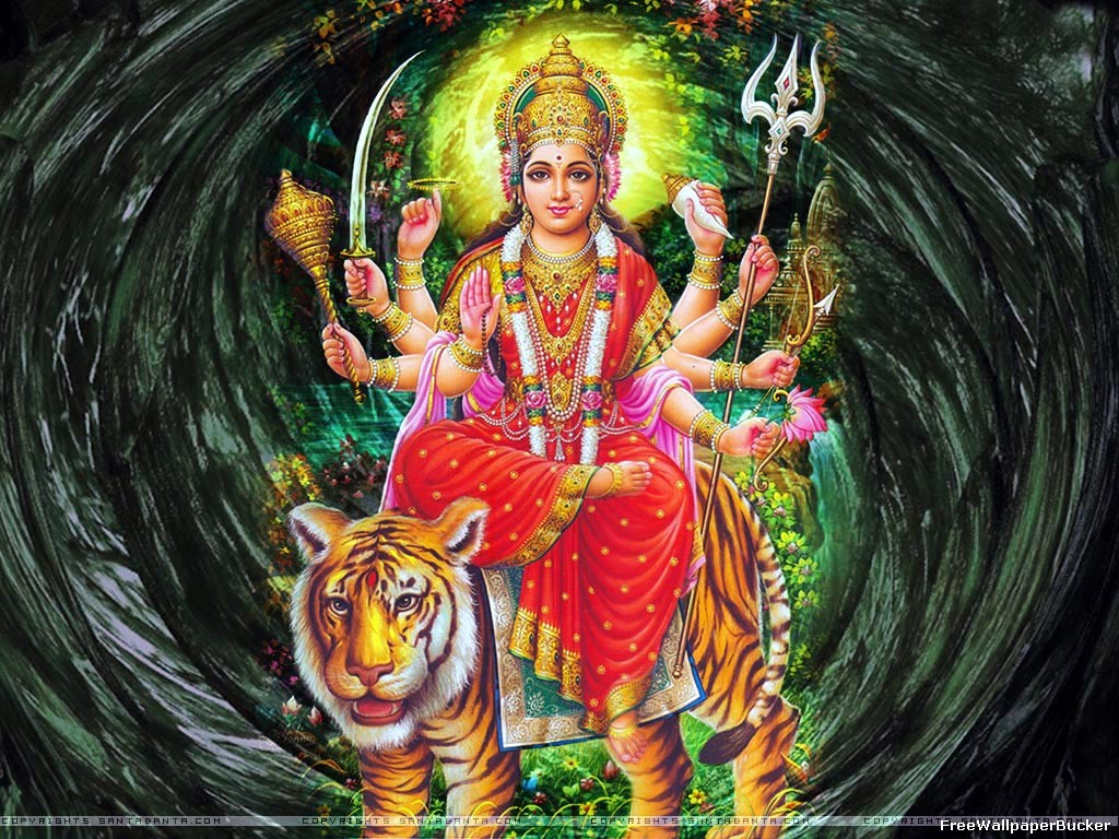 Durga Mata Hindu Goddess Durga Maa Most Beautiful Wallpapers 1024x768