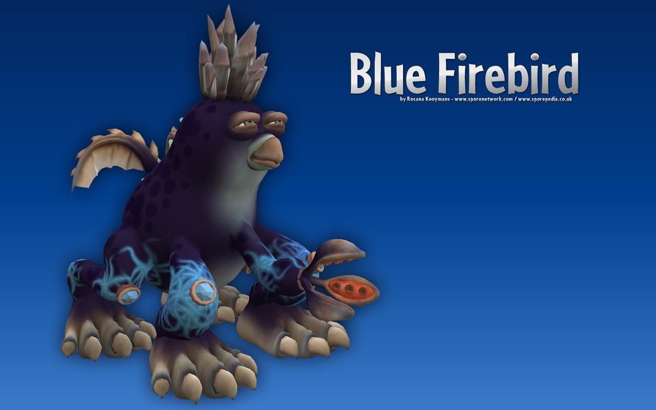 Blue Firebird Desktop Wallpapers Rosana Kooymans Art 1280x800