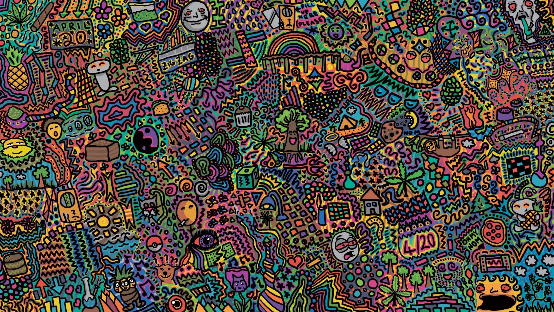 Download Acid Trip Background 1920x1080