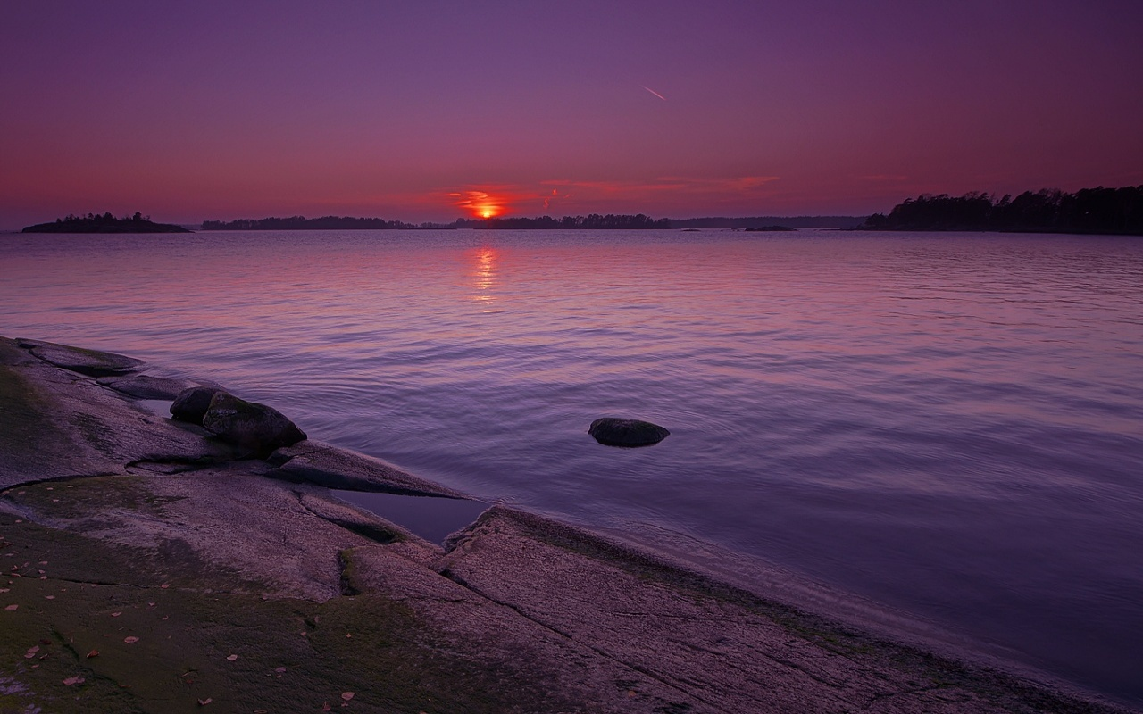 Purple Sunset Wallpapers - 1280x800 - 303770