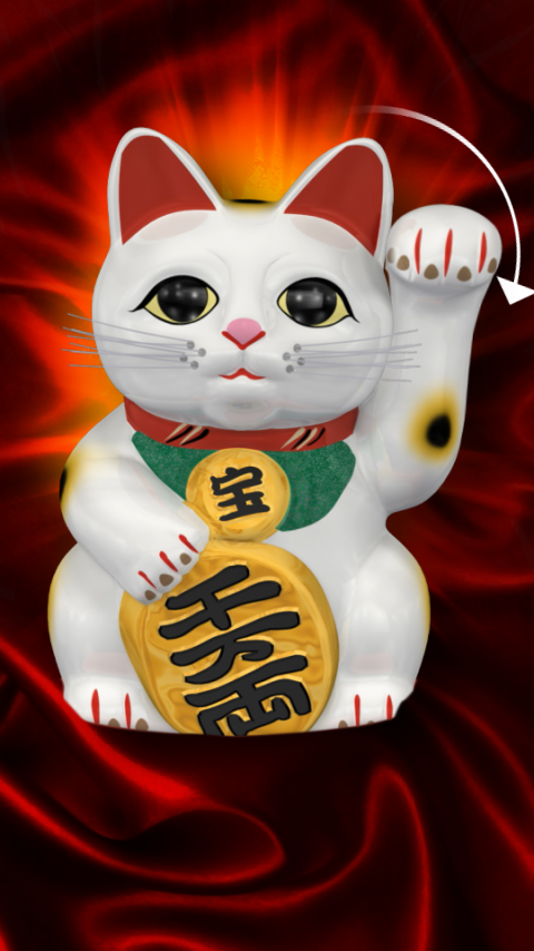 Lucky Cat Live Wallpaper   Android Apps on Google Play 480x854