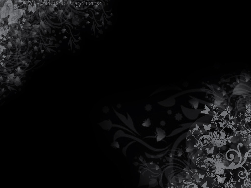 46 Floral Wallpaper With Black Background On Wallpapersafari