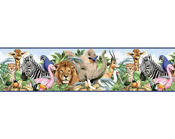 Jungle Wallpaper Border Cake Ideas and Designs 580x460