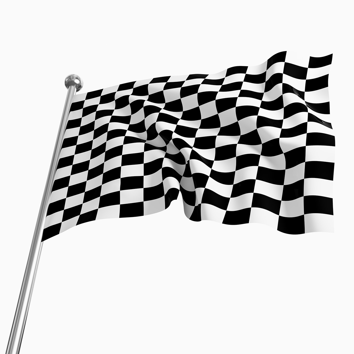 Close up black and white checkered racing flag 50121   Automotive 1400x1400