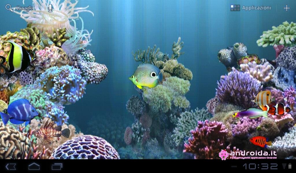 Wallpapers Anipet Aquarium Live Wallpaper Sfondo Live Per Android Con 1024x600