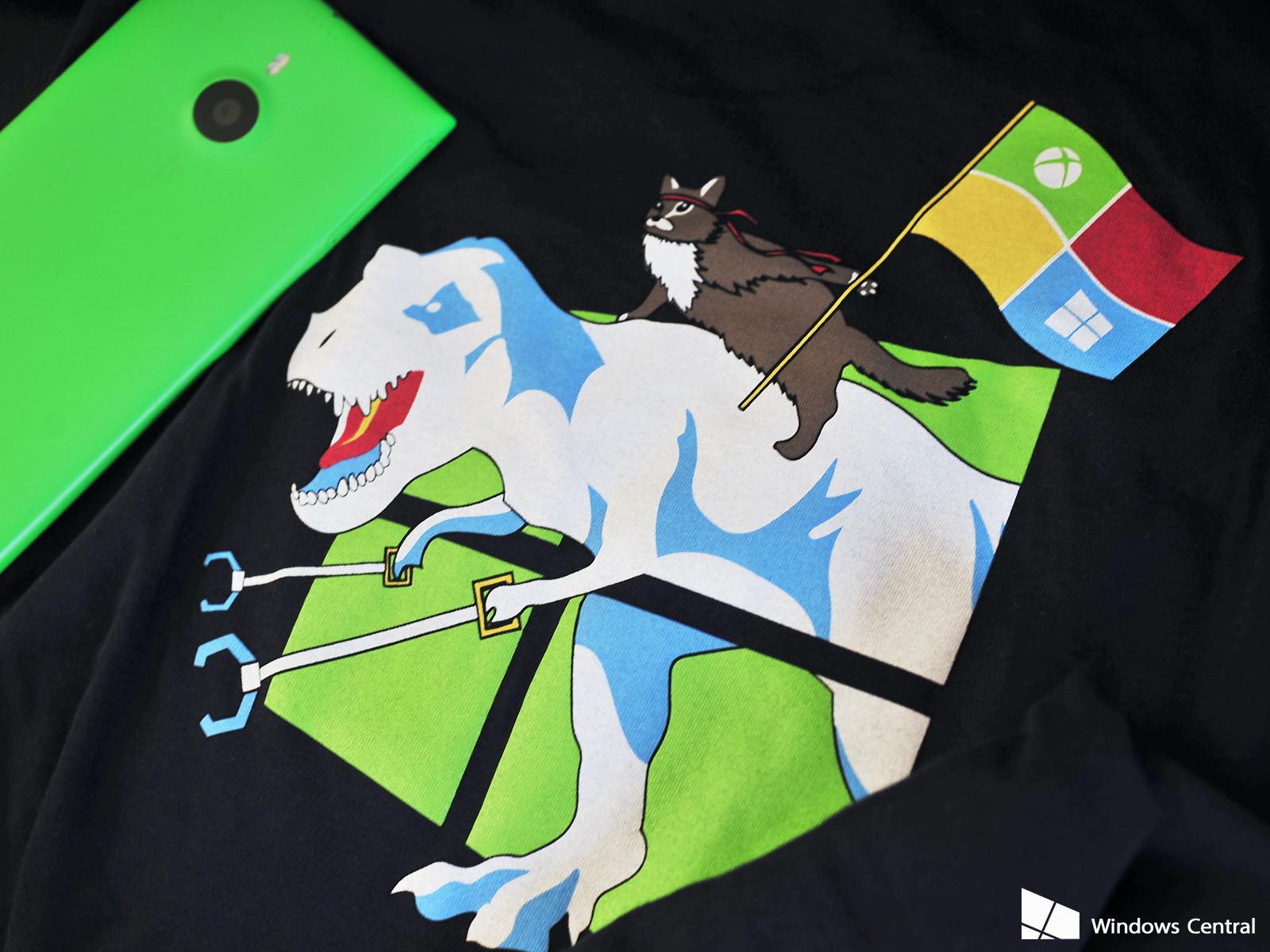 limited run of Windows 10 Ninja Cat T Rex t shirts Windows Central 1600x1200