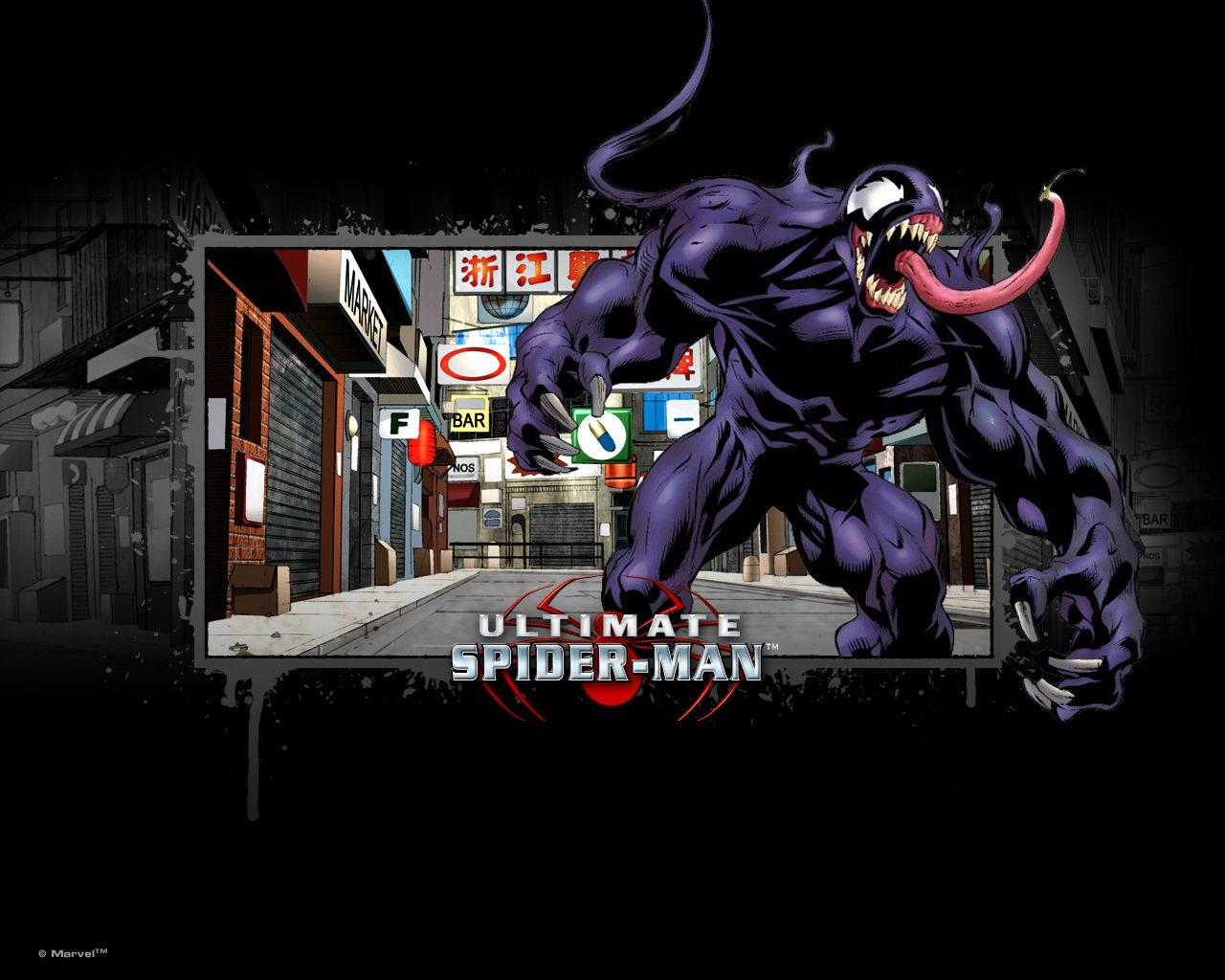 Street Venom   Ultimate Spider Man Wallpaper Street Venom Wallpaper 1280x1024