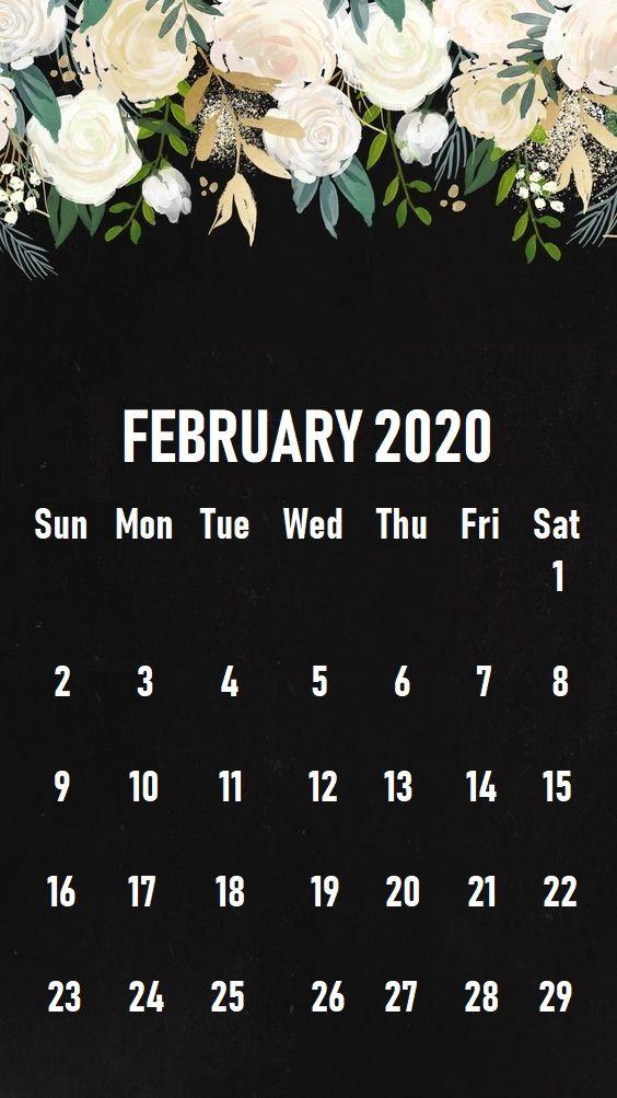 February 2020 iPhone Calendar Wallpaper in 2019 Calendar 564x1003