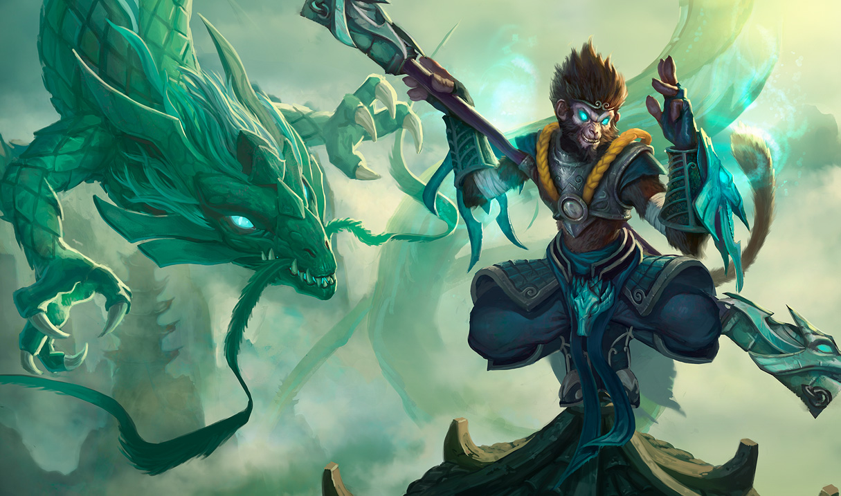 League of legends Wallpapers Jade Dragon Wukong Wall Paper 1215x717