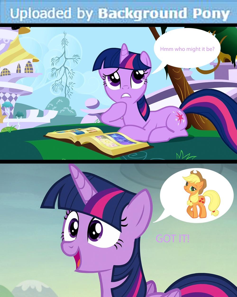 Applejack is a Background Pony Know Your Meme 1000x1253