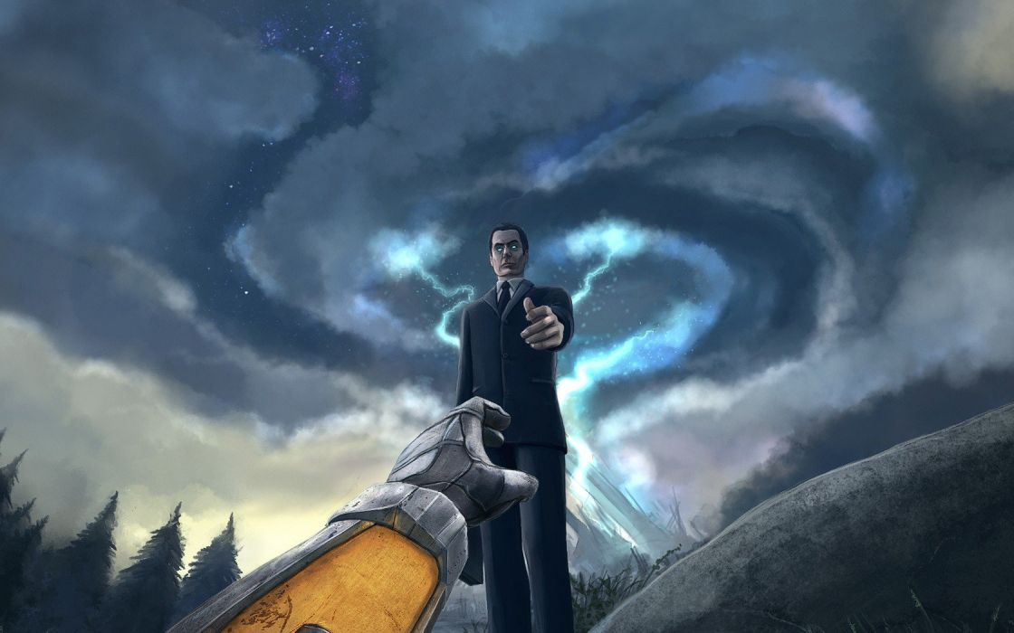 Half Life Gordon Freeman digital art G Man Half Life 2 wallpaper 1120x700