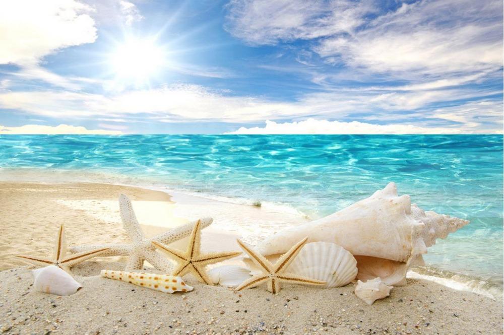 Custom 3d photo wall paper Blue Ocean Beach TV backdrop Landscape 1000x665