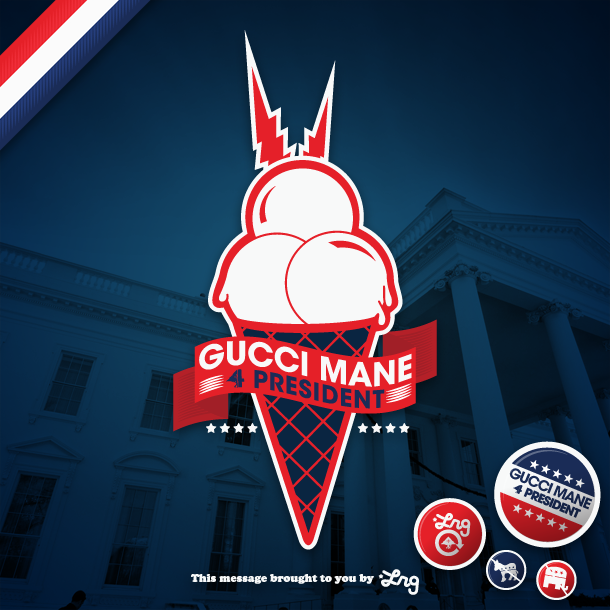 And shit why not Cop some GUCCI MANE 4 PRESIDENT wallpaper here 610x610