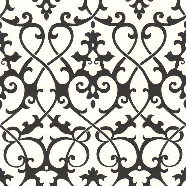 414 62917 Black Ironwork   Jacques   Brewster Wallpaper 600x600