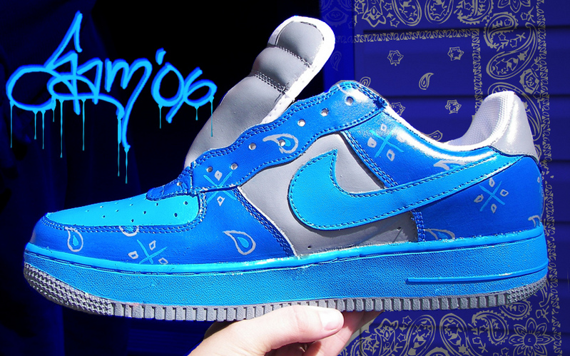 Crips Vs Bloods Wallpaper Customized airforce 1s   crip 799x499