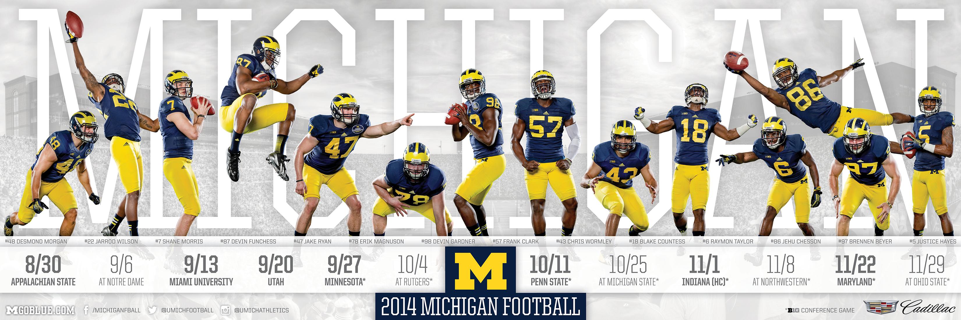 University Of Michigan Football Wallpaper Wallpapersafari