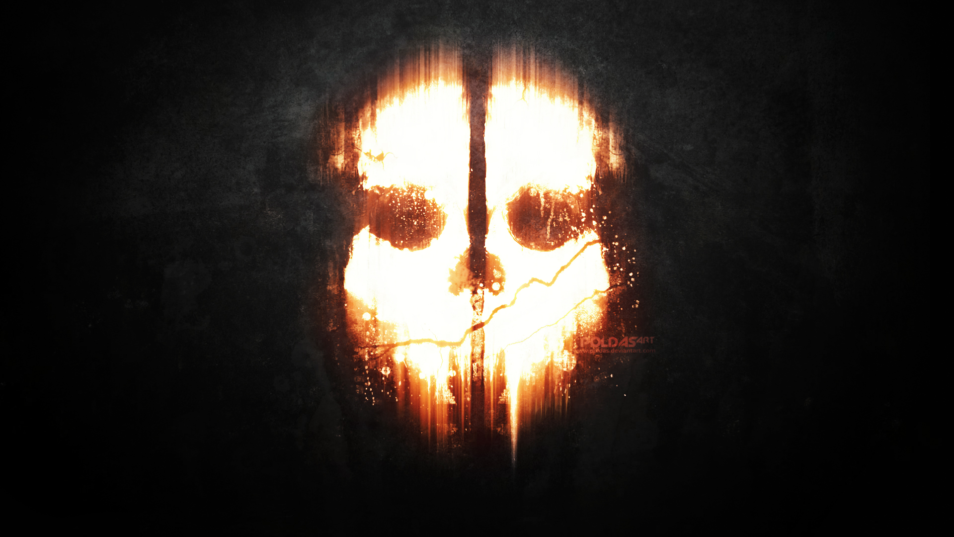 Call of Duty Ghosts dark mask skull wallpaper background 1920x1080