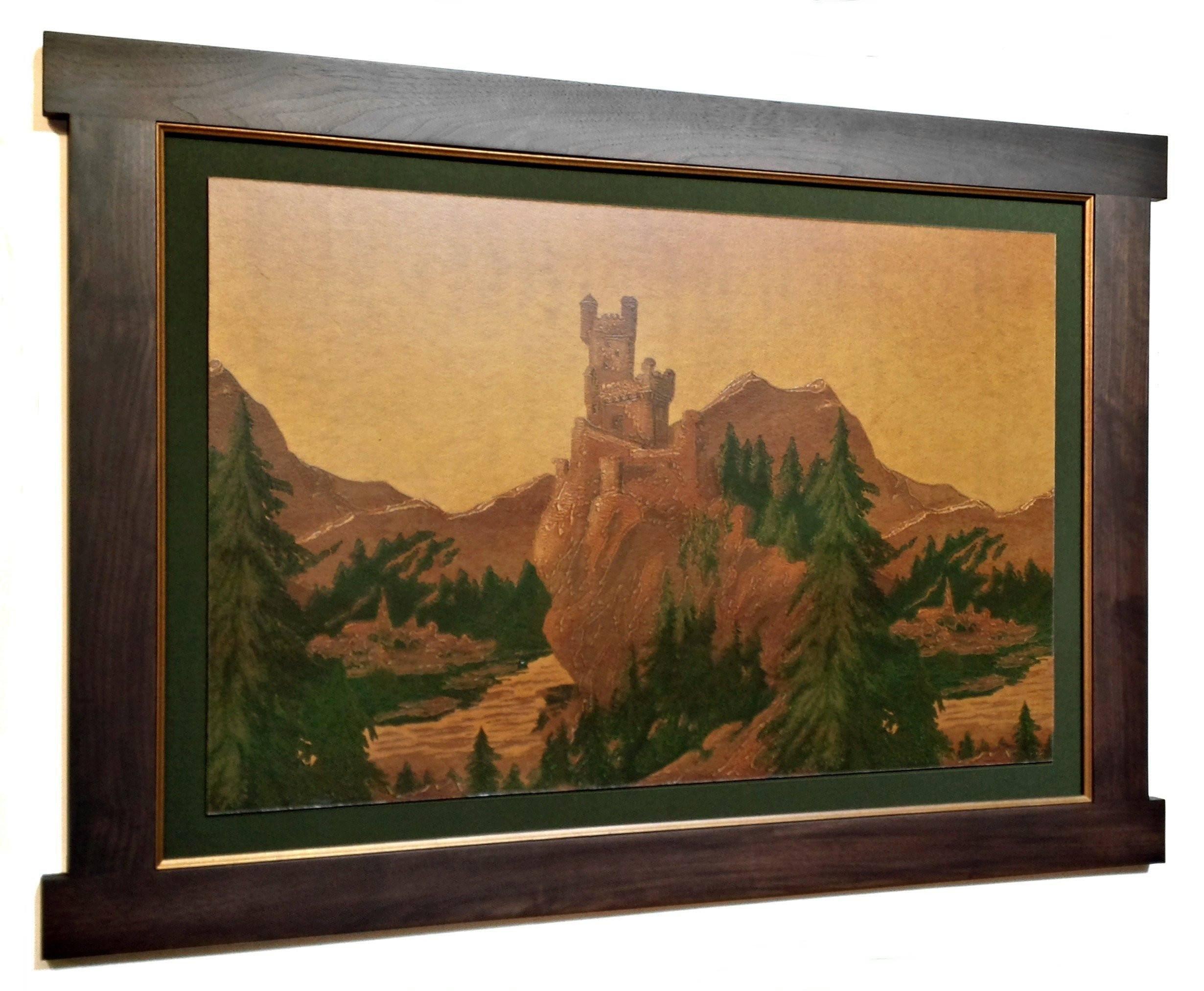 The Rhine Castles Frieze on GoldAntique WallpaperWall Art 2460x2024
