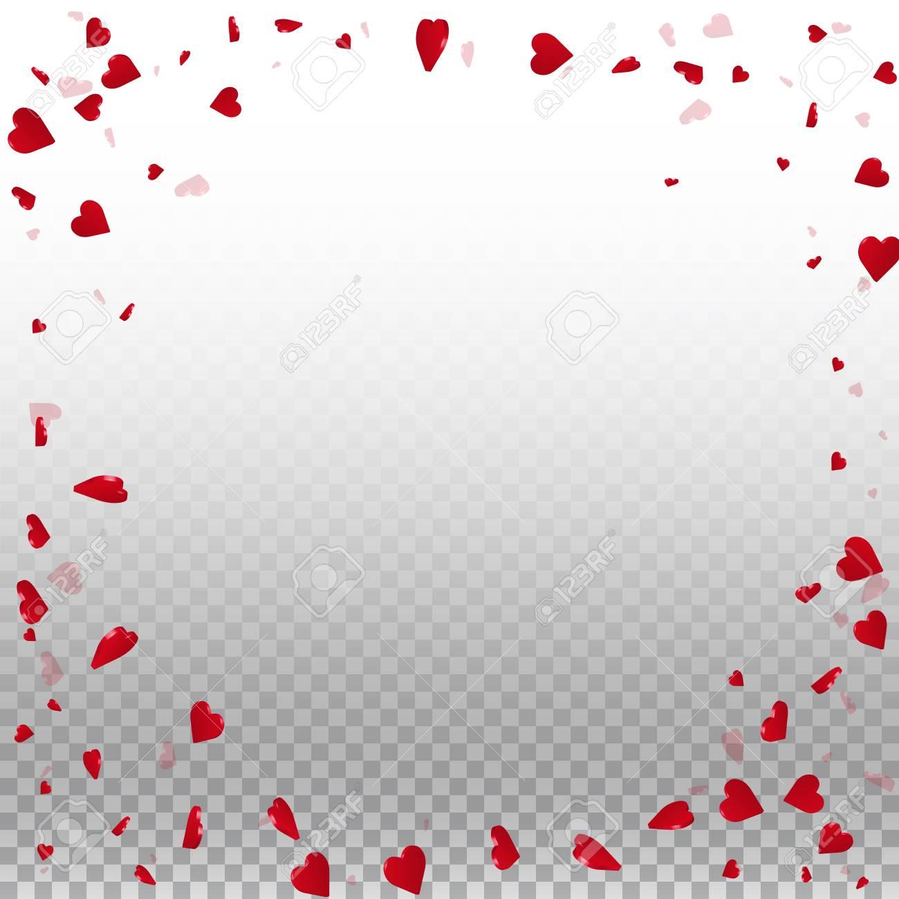 3d Hearts Valentine Background Round Random Frame On Transparent 1300x1300