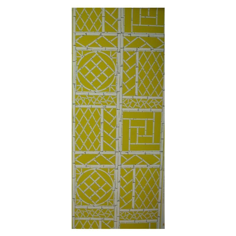 Yellow Chinese Lattice Wallpaper 800x800