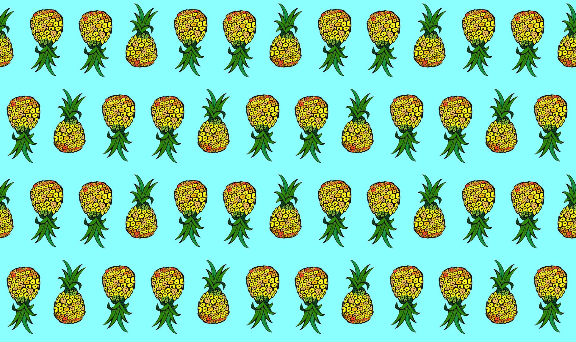 [43+] Wallpaper with Pineapple Design on WallpaperSafari