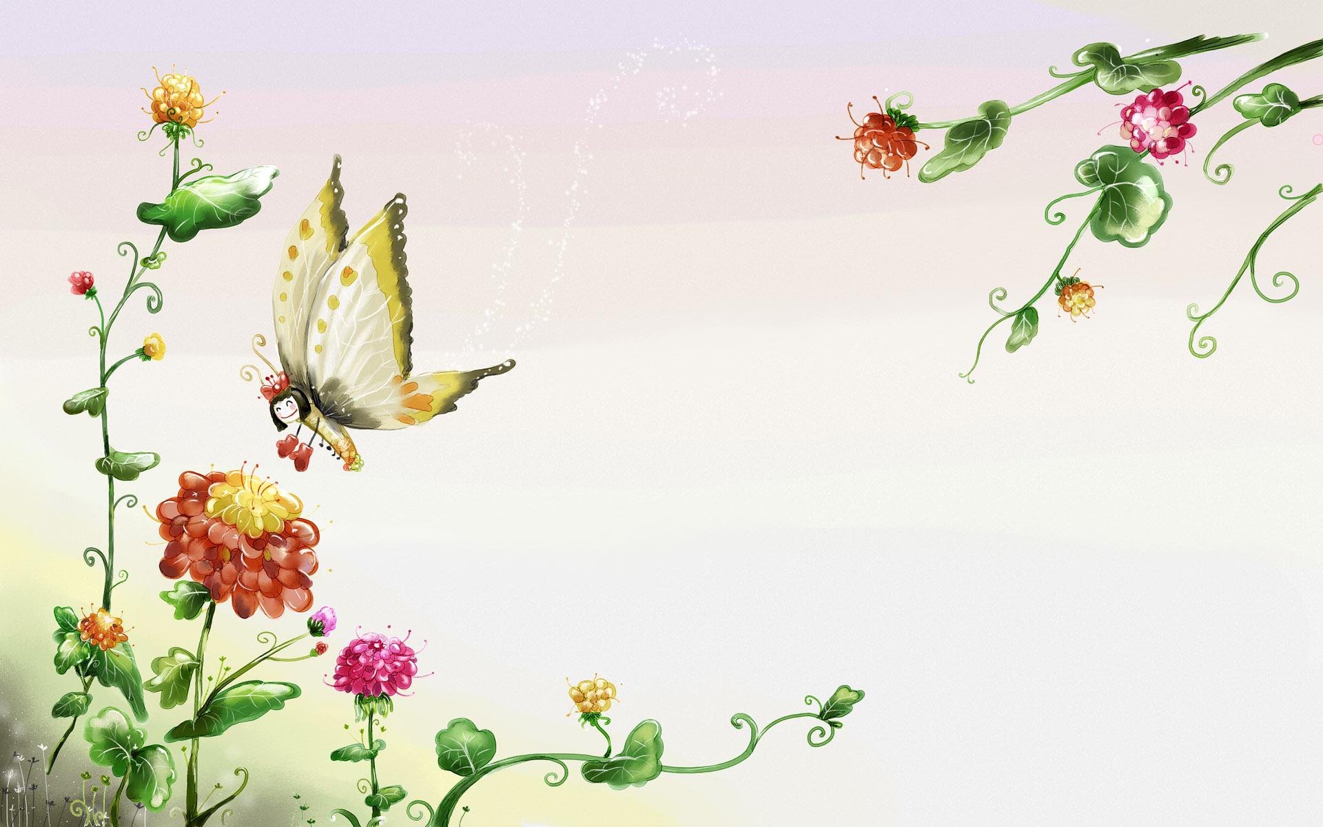 wallpaper desktop wallpapers top elf vintage butterfly 1920x1200
