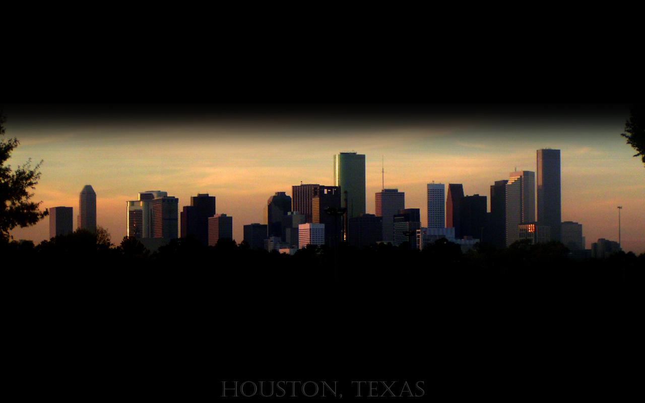 Houston Sunset   Widescreen by dedringer on deviantART 1280x800