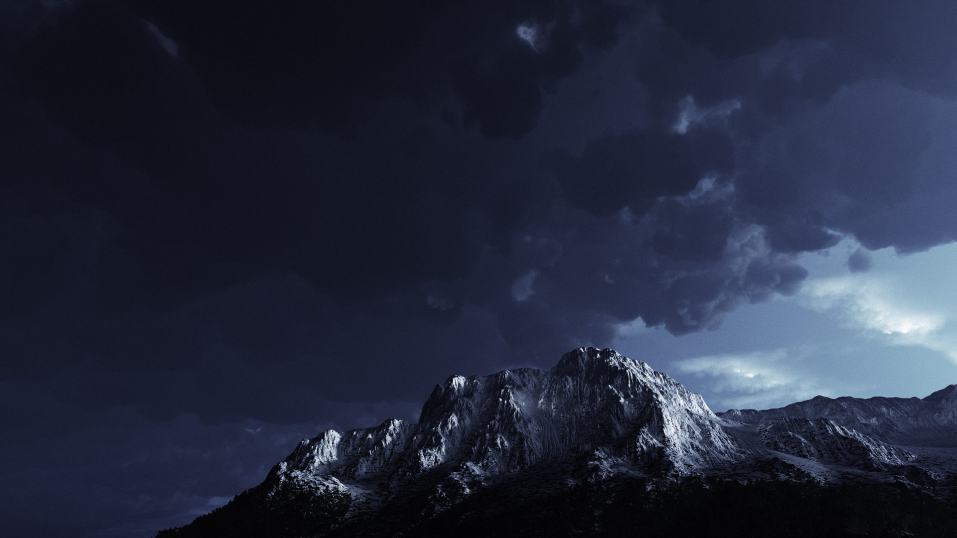 Dark Storm Mountain Hd Desktop Wallpaper Images Picture 1920x1080