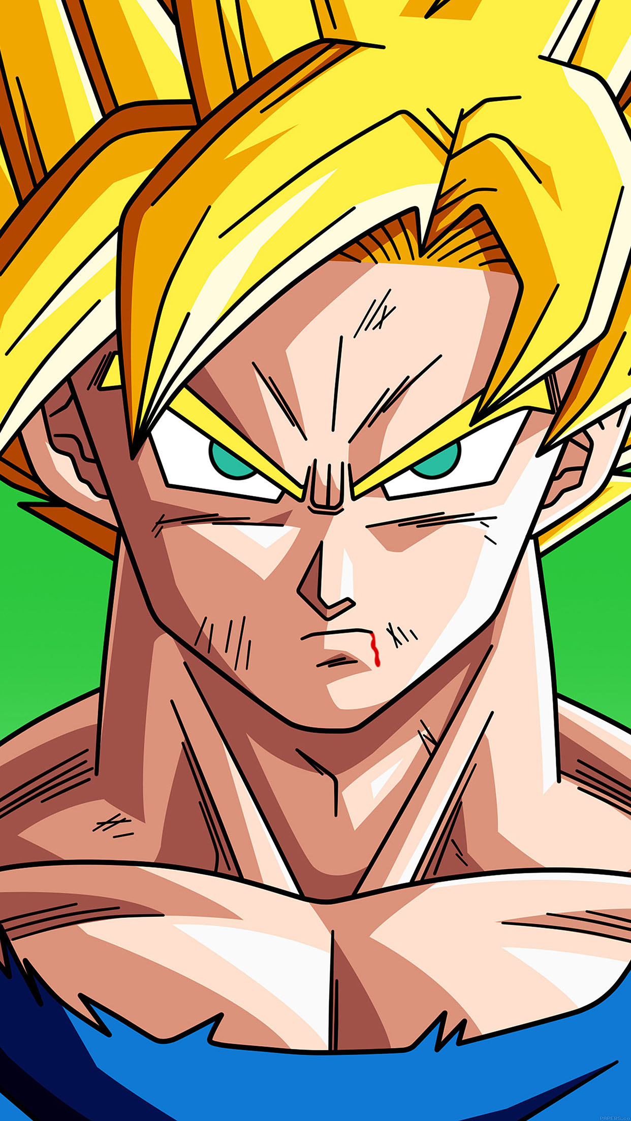 dragon ball goku SSJ 3Wallpapers iPhone Parallax Les 3 Wallpapers 1242x2208
