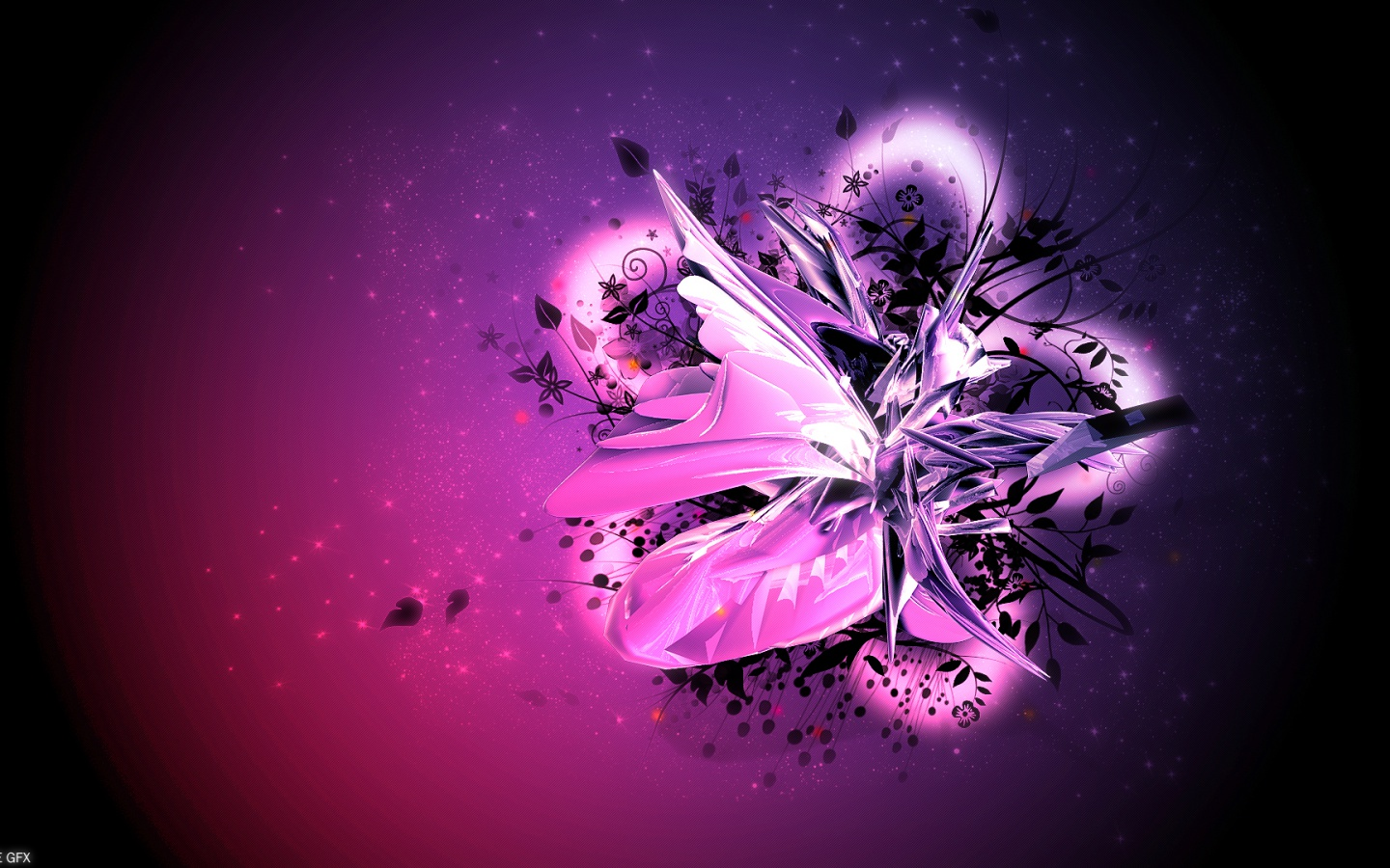 1440x900 Pink Purple Floral Abstract desktop PC and Mac wallpaper 1440x900